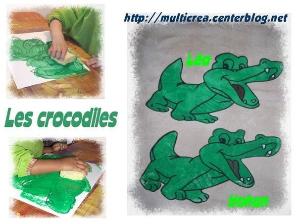 Animaux page 6 for Peinture crocodile