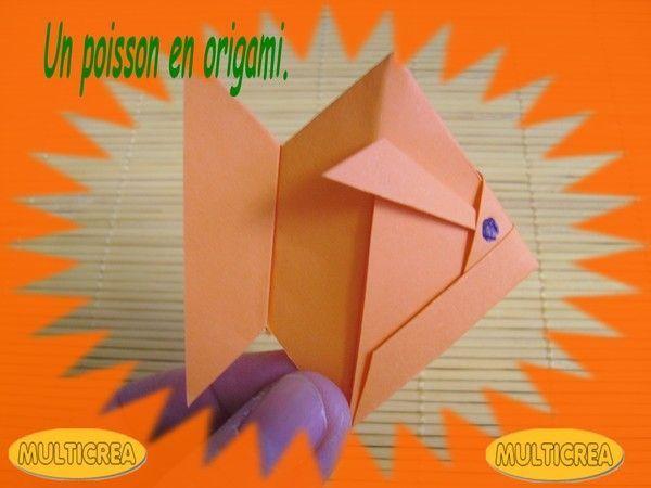 Un poisson en origami.