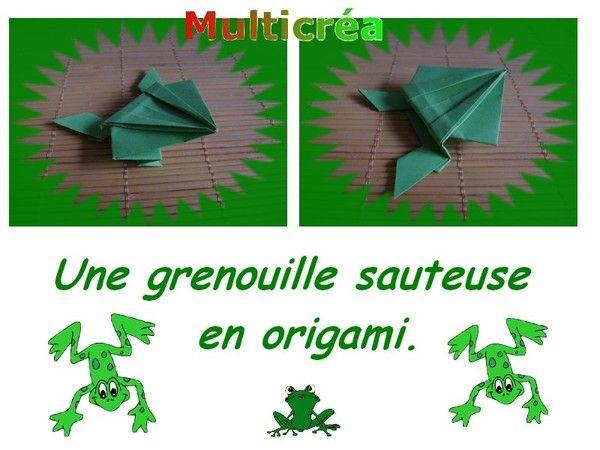 Une grenouille en origami.