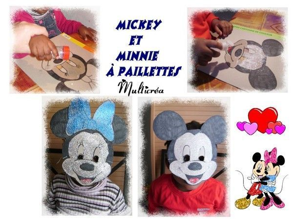 Masques mickey et minnie 1 3 - Mickey et plutot ...