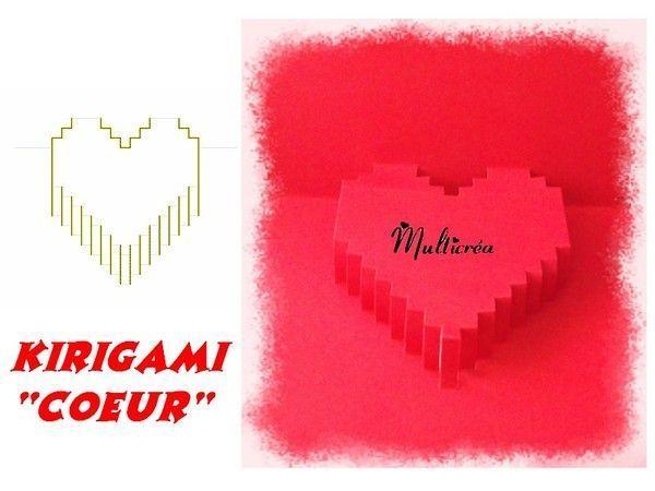 Coeur en kirigami