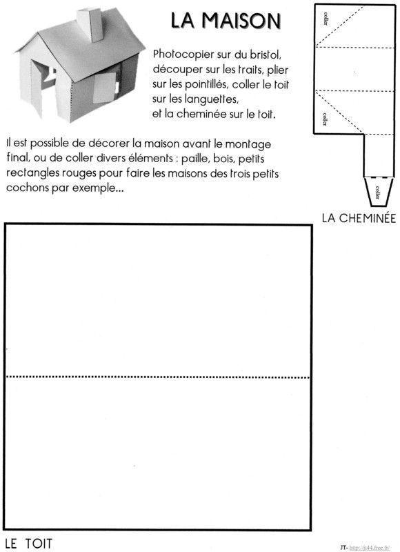 Activit s manuelles avec les enfants page 146 - Gabarit maison en carton ...