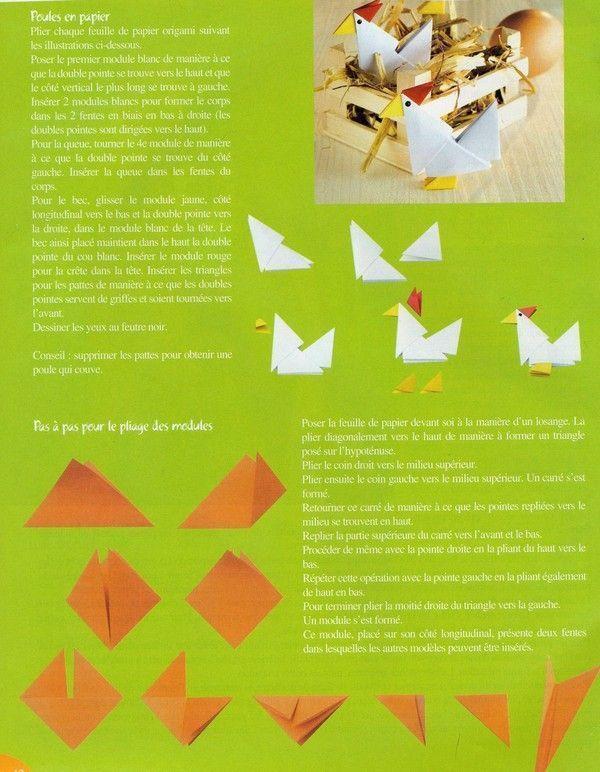 Cocottes en papier cocottes en papier - Fabriquer une cocotte en papier ...