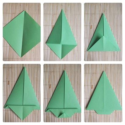 Sapins en origami 2 2 - Decoration de noel en origami ...