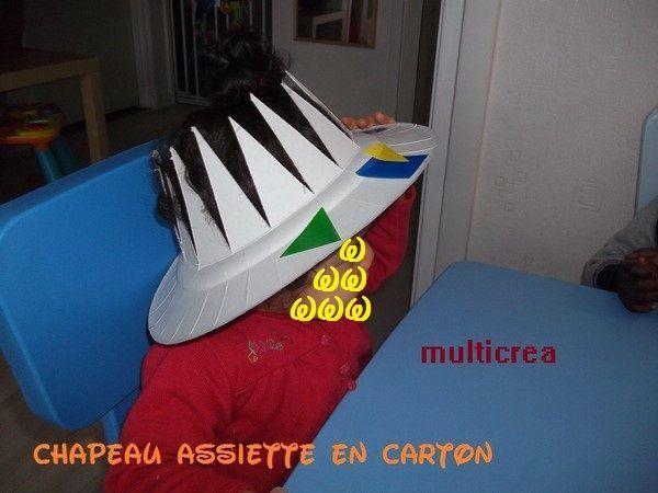 chapeau assiette en carton 2 2. Black Bedroom Furniture Sets. Home Design Ideas
