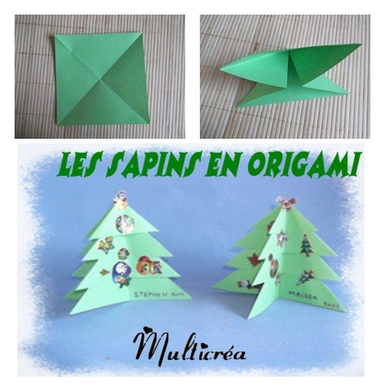 Sapin en origami facile - Origami noel sapin ...