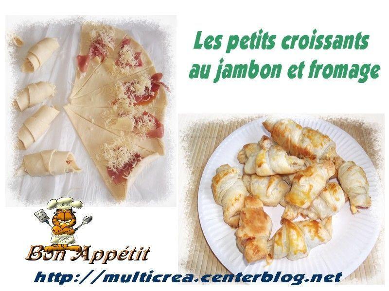 croissants au fromage et jambon