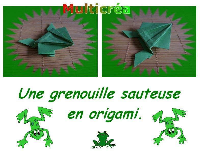 Une grenouille en origami - Origami facile grenouille ...