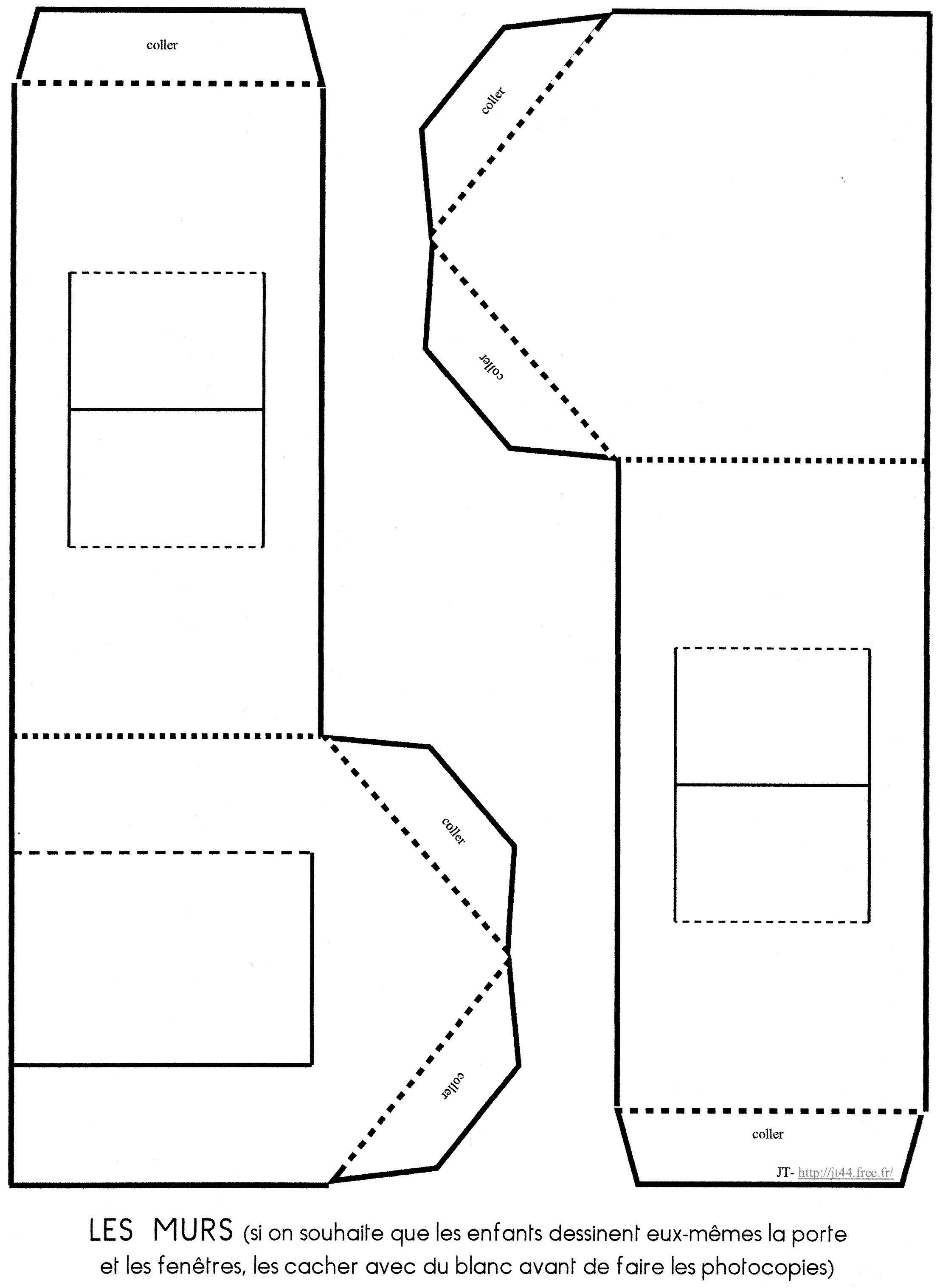 la maison en gommettes et carton 2 3. Black Bedroom Furniture Sets. Home Design Ideas