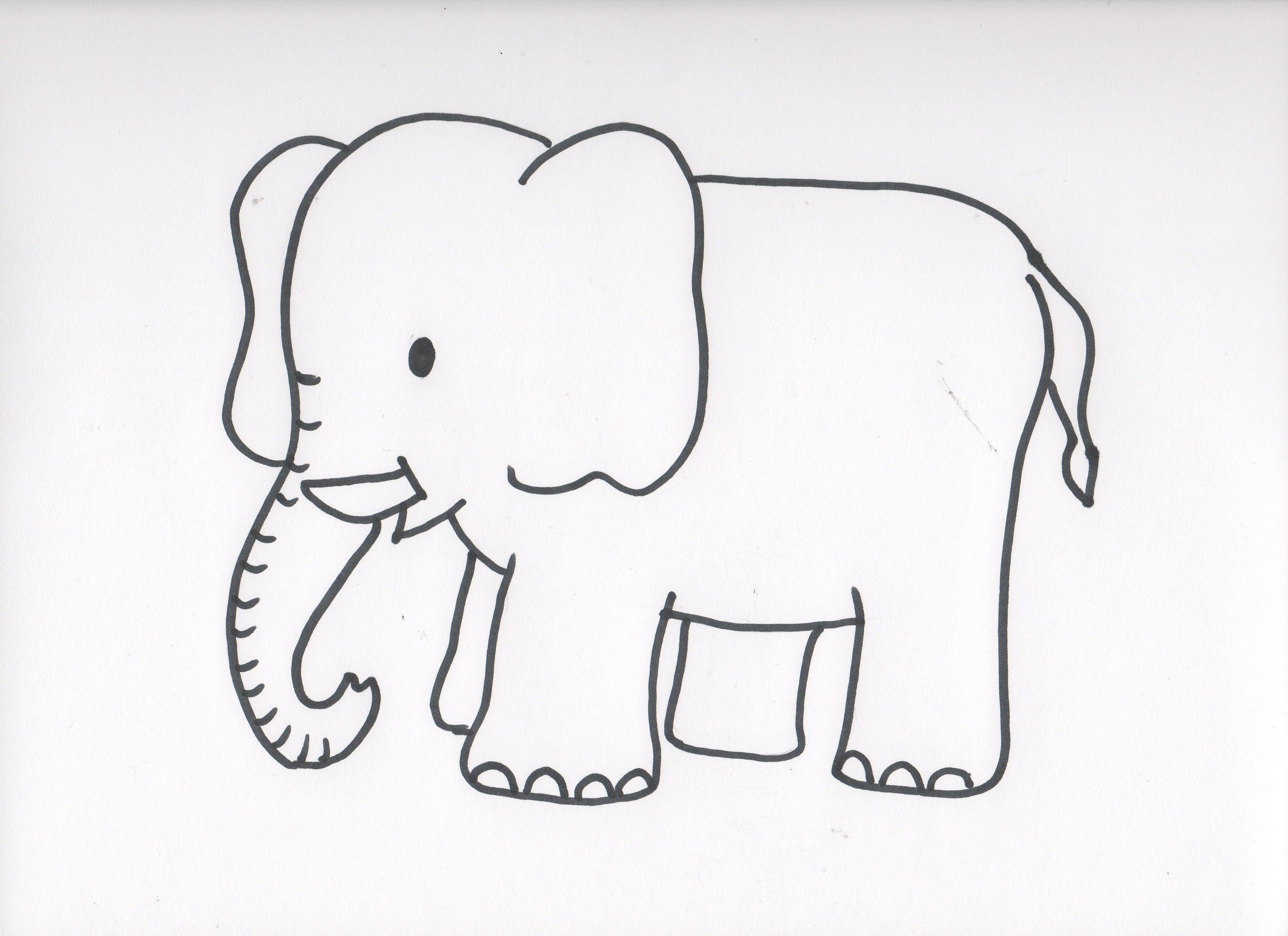 Animaux page 17 - Dessin d elephant ...